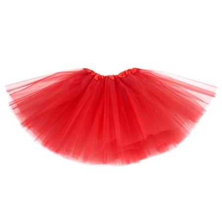 Klasyczna Spódnica tiulowa TUTU czerwona