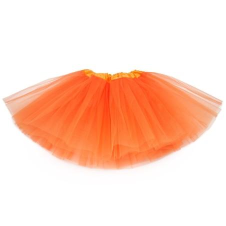 Klasyczna Spódnica tiulowa TUTU pomarańcz